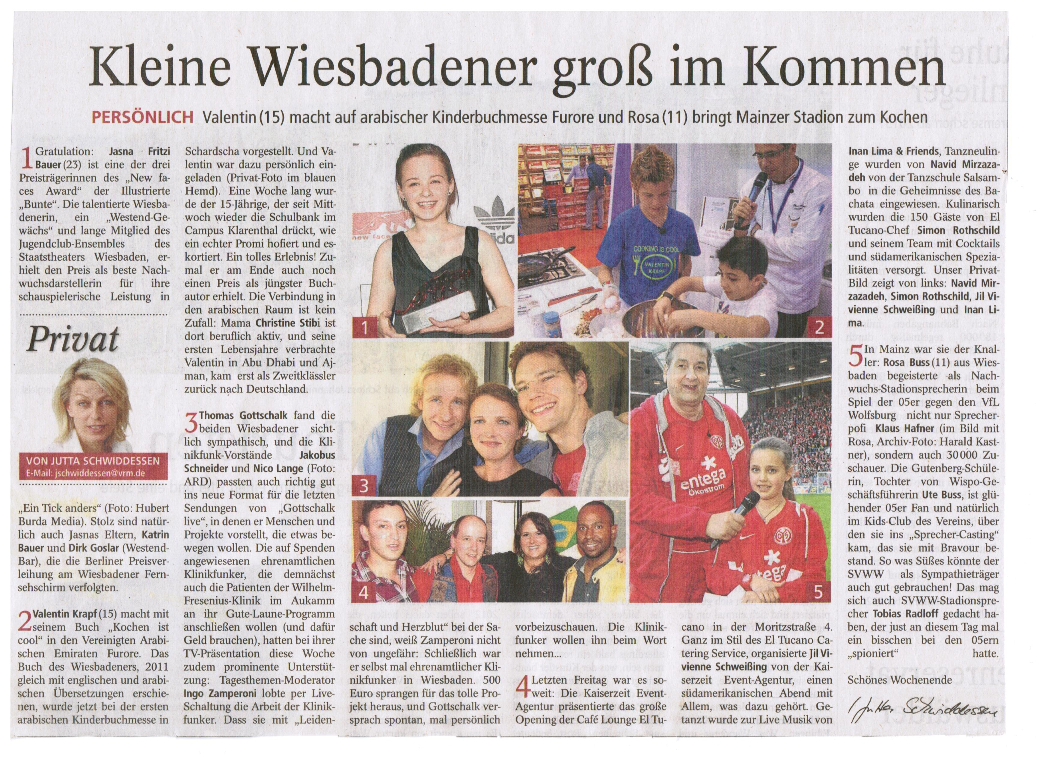 DSC ARTIKEL im WIesbadener Kurier - Sharjah Children Reading Festival